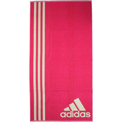 Adidas Towel Pink Yellow Large 70 x 140cm Swimming Gym 100% Genuine Brand New