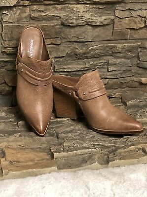 957aa2452ef Donald J Pliner Vero 2 Leather Mules Slip On Taupe Size 7.5 Nice!