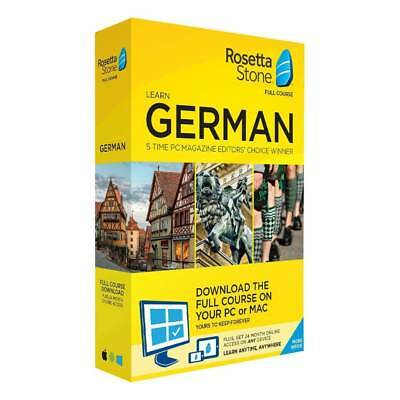 Rosetta Stone - German Full Course PLEASE READ ALL DETAILS