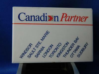 Canadian Airlines Partner Advertising Button Vintage Collector Pin Back