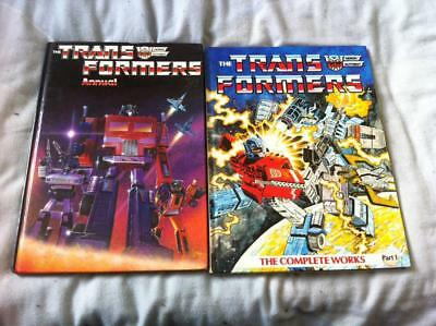 The Transformers Hardback Books - The Complete Works Part 1 and The 1985 Annual