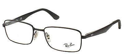 Authentique Ray Ban Rx 6333 2509 Noir Brillant Métal Rectangle Lunettes 54mm 4b9400511339