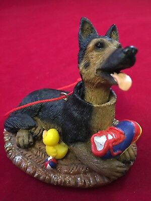 Unique German Shepard Dog w/ Bobble Head Christmas Tree Ornament
