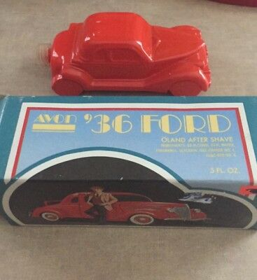 Vintage Avon '36 Ford Wild country After Shave Bottle Decanter NIB FULL NOS 1936