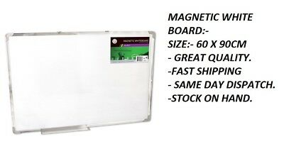 Magnetic Board Portable White board Commercial 60x90cm Home Office Marker Erase