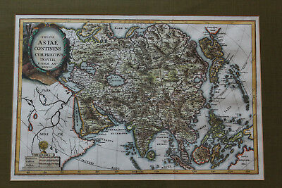Heinrich Scherer Asia 1702 Framed Map from Harrods Russia China India Japan