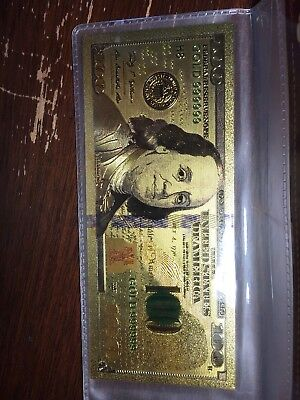 $100 Banknote 24k Gold Plated