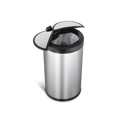 NINESTARS DZT-12-18 Automatic Touchless Infrared Motion Sensor Trash Can, 3 Gal