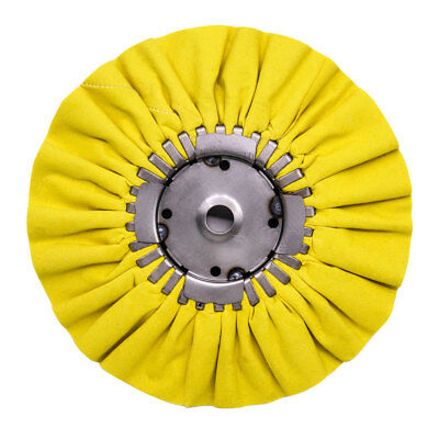"""Renegade Products 9"""" Yellow Airway Buffing Wheel w/Center Plate - Step 2 COLOR"""