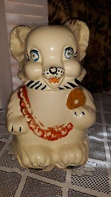 "Vintage 1950's Cookie Bear Cookie Jar, used, no box, 12"" tall"