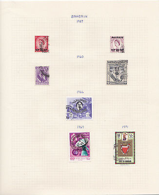 Various middle eastern states stamp collection on album pages