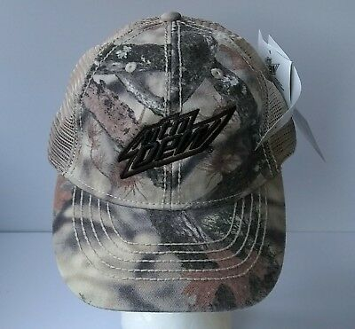 New Mountain Dew Lost Camo Mesh Back Adjustable Hat Cap NWT Take It Outside