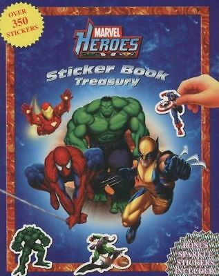 NEW Marvel Heroes: Sticker Book Treasury  By Phidal Publishing  Paperback