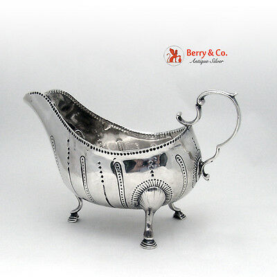 Irish Sauce Boat Matthew West 1765 Dublin Sterling Silver