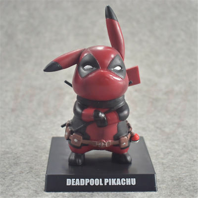 3519d9ac6 Pokemon's Detective Pikachu Deadpool Cosplay PVC Figure Statues Model Toys  Gifts