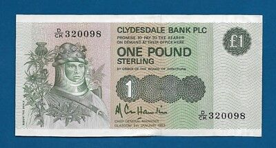 Scotland Clydesdale Bank PLC 1 Pound 1983 P-211b Robert the Bruce Banknote