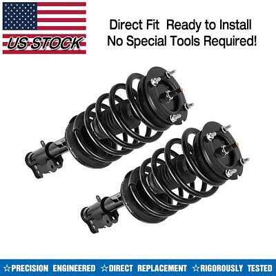 2x Front Complete Struts & Coil Springs for 2006-2011 Cadillac DTS Buick Lucerne