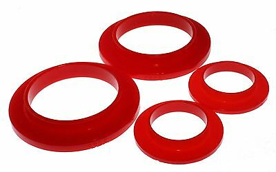 Energy Suspension 79-04 Mustang Rear Coil Spring Isolators Upper & Lower (Red)