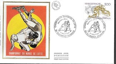 FR464) France 1987 Wrestling World Championship Silk FDC $4.00