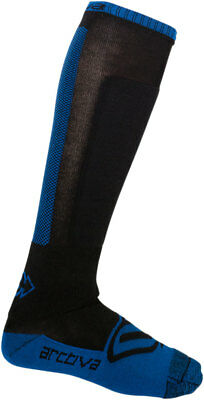 Arctiva Snow Snowmobile Men's Evaporator Mid-Weight Wicking Socks (Blue/Black)