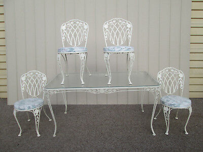 58519  QUALITY Metal Dining Kitchen Table with 4 Chairs  Garden Patio Set