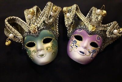 Green & purple ornamental Masquerade MasK
