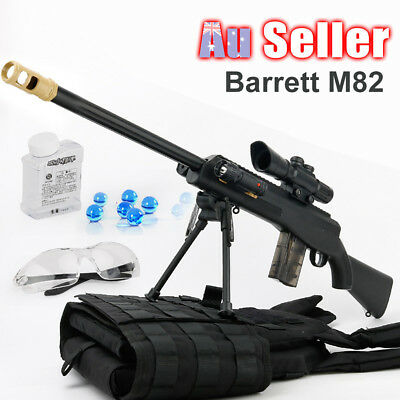 Plastic Barrett Water Crystal Bullet Weapon Kids Toy Gun Pistol Sniper Gel Ball