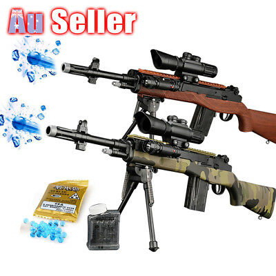 Kids Toy Gun Plastic M14 Gel Ball Water Pistol Sniper Crystal Bullet Weapon