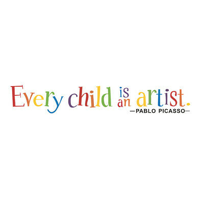 Every Child is an Artist Removable Art Vinyl Mural Home Room Decor Wall Stickers