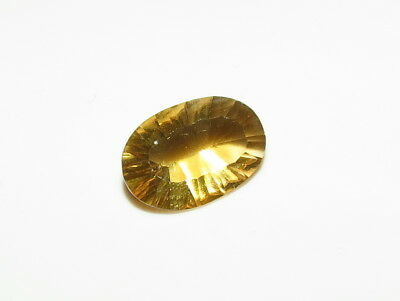 15x7mm RARE YELLOW FLUORITE CONCAVE CUT LOOSE FACETED GEM from natural rough