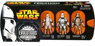Hasbro Star Wars Evolutions Clone Trooper to Stormtrooper Figures New In Box