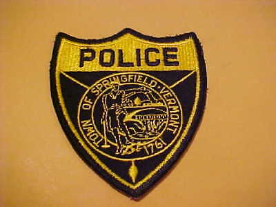 Springfield Vermont Police Patch Shoulder Size Used