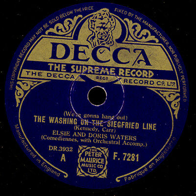 """ELSIE & DORIS WATERS """"British WKII Comedy"""" The washing on the Siegfried... S7879"""