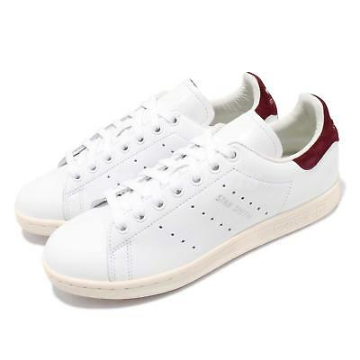 reputable site 7a41c 05007 adidas Originals Stan Smith W White Burgundy Women Casual Shoes Sneakers  AQ0887