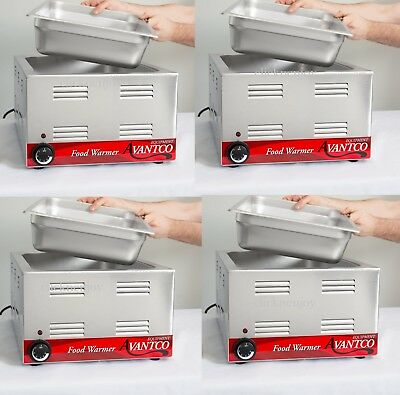 """4 PACK Full Size 12"""" x 20"""" Electric Countertop Food Pan Warmer Commercial Chafer"""