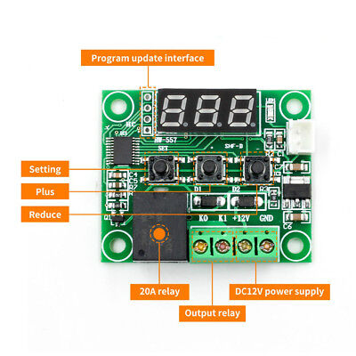 W1209 DC 12V LED Digital Thermostat Thermo Controller Switch Module + NTC Sensor