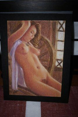 ACEO ORIGINAL pastel painting - Nude - Fine Art Figure Drawing BEAUTY!!