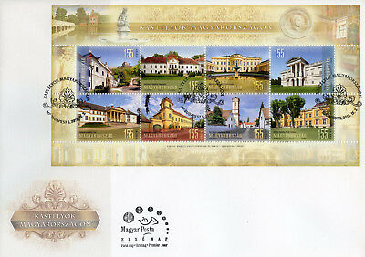 Hungary 2018 FDC Castles in Hungary 8v M/S Cover Tourism Architecture Stamps