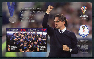 Croatia 2018 MNH Success at FIFA World Cup Football Russia 2018 2v M/S Stamps