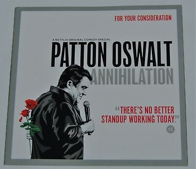 Patton Oswalt Annihilation DVD For Your Consideration FYC  PROMO DVD R1 2018