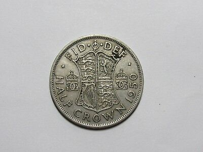 Old Great Britain Coin - 1950 Half Crown Halfcrown - Circulated