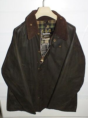 barbour bedale jacket waxed cotton olive green 100%authentic c44/112 xl