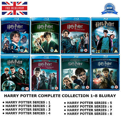 Harry Potter Series 1-8 : Complete Season Collection 1 2 3 4 5 6 7 8 New Blu ray