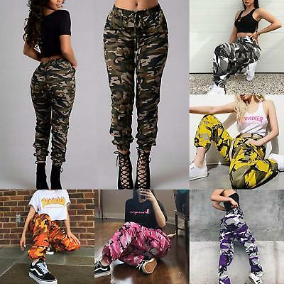 Au Ladies Womens Camouflage Camo Army Military Joggers Trousers Pants Leggings