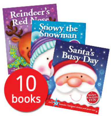 Christmas Sticker and Activity Book Collection - 10 Books
