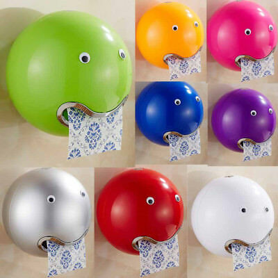 Ball Shaped Cute Emoji Bathroom Waterproof Toilet Paper Box Roll Paper Holder U