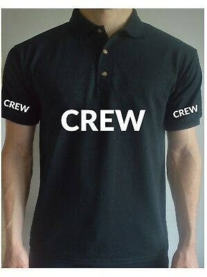 Printed CREW Work Stage Film Staff Event BodyGuard Job T Shirt Top Tee Polo
