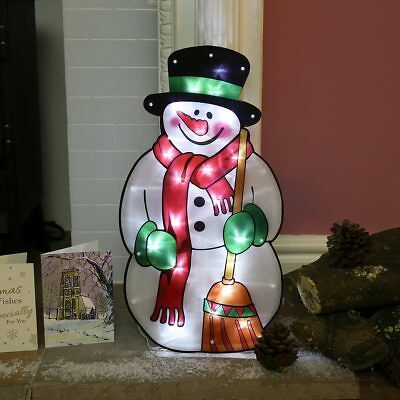 45cm Battery Christmas Snowman LED Silhouette Decoration | Home Indoor Window