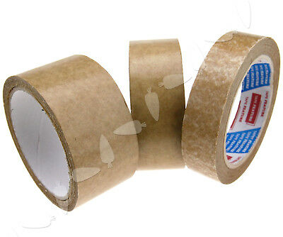 50m x 24/38/50mm Brown Self-Adhesive Picture Frame Backing Tape