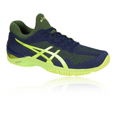 4860c63d99 Asics Mens Court FF Tennis Shoes Navy Blue Breathable Lightweight Trainers